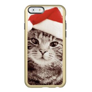 Inländische Tabbykatze, die roten Weihnachtshut Incipio Feather® Shine iPhone 6 Hülle