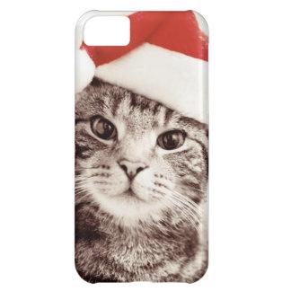Inländische Tabbykatze, die roten Weihnachtshut iPhone 5C Hülle