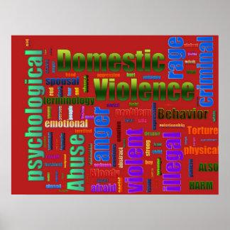 Inländischer Gewalt-Missbrauchs-in Verbindung steh Posterdruck