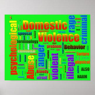 Inländischer Gewalt-Missbrauchs-in Verbindung steh Plakatdrucke