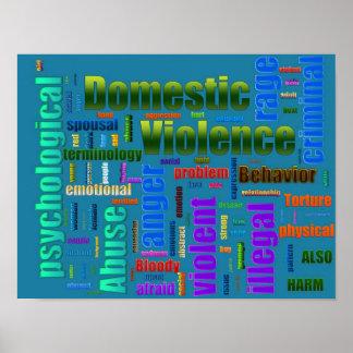Inländischer Gewalt-Missbrauchs-in Verbindung steh Posterdrucke