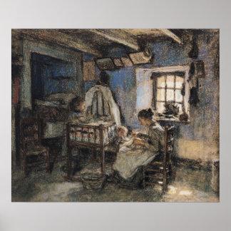 Inländischer Interior, Wissant, 1913 Plakatdrucke