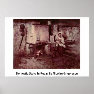 Inländischer Ofen in Rucar durch Nicolae Grigoresc Posterdrucke
