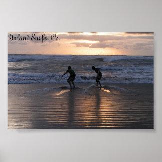 Inländischer Surfer Plakatdruck