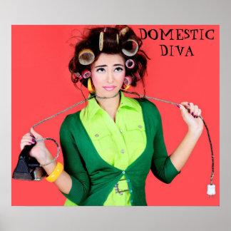 Inländisches Diva-Plakat Poster