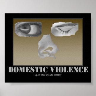 Inländisches Gewalt-Plakat