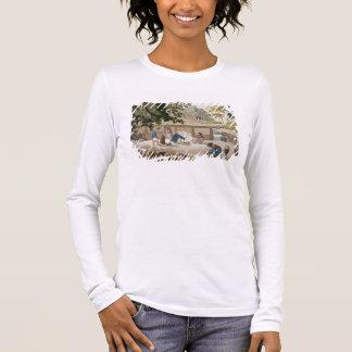 Inländisches Leben in Kupang, überziehen Timor, 10 Langarm T-Shirt