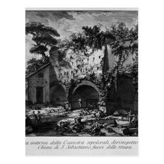 Innenansicht der Grabkammer im Vineyar Postkarten
