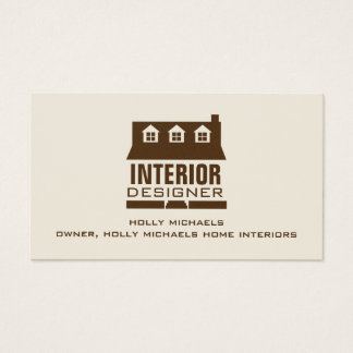 Innenarchitekt - Brown-Kap-Art-Haus Visitenkarten