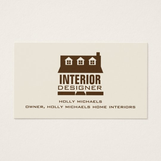Innenarchitekt brown kap art haus visitenkarten zazzle for Innenarchitekt beruf