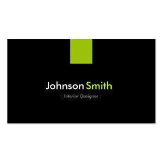 Innenarchitekt-modernes tadelloses Grün Visitenkarten Vorlagen