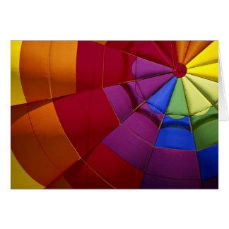 Innenarchitektur des aufgeblähten Heißluftballons Grußkarte