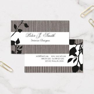Innenarchitektur-gestreiftes Muster-Mode-Blatt Visitenkarte