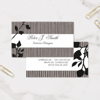 Innenarchitektur-gestreiftes Muster-Mode-Blatt Visitenkarten