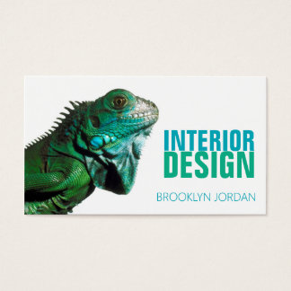Innenarchitekturdesignerchamäleon-Visitenkarte Visitenkarte