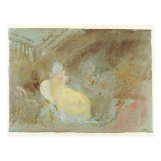 Innenraum bei Petworth mit Sitzzahl, 1830 Postkarte
