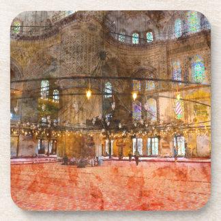 Innenraum der blauen Moschee in Istanbul die Untersetzer