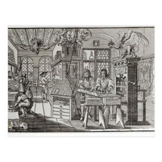 Innenraum der Druckarbeiten in Nürnberg Postkarte
