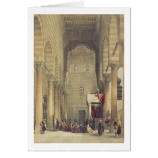 Innenraum der Moschee des Metwalys, Kairo, für Karte