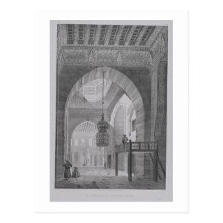 Innenraum der Moschee von Kaid-Bey, überzieht 55 Postkarte