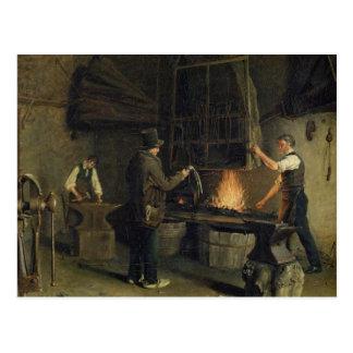 Innenraum der Schmiede, 1837 Postkarte