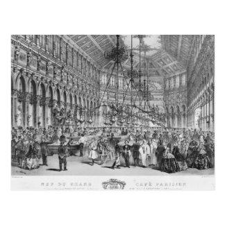 "Innenraum des ""großartigen Cafés Parisien"", Paris Postkarte"