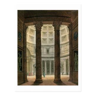 Innenraum des Pantheons, Rom, von 'Le Costume A Postkarte