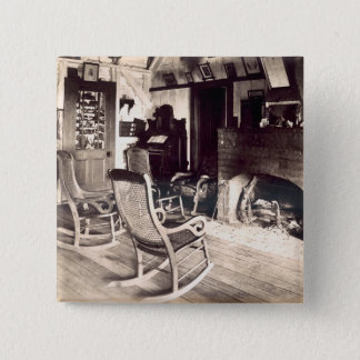Innenraum einer amerikanischen hölzernen quadratischer button 5,1 cm