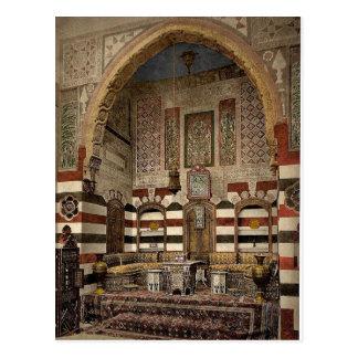 Innenraum eines Hauses, Damaskus, Heiliges Land, Postkarte