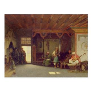 Innenraum eines orientalischen Cafés Postkarte