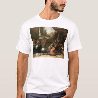 Innenraum eines Raumes mit Geographen T-Shirt