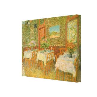 Innenraum eines Restaurants durch Vincent van Gogh Leinwanddruck
