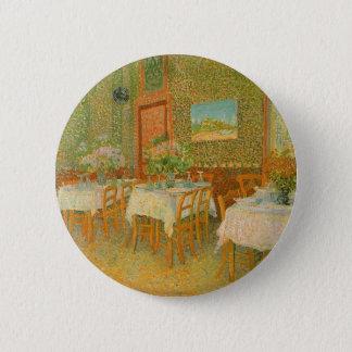 Innenraum eines Restaurants durch Vincent van Gogh Runder Button 5,1 Cm