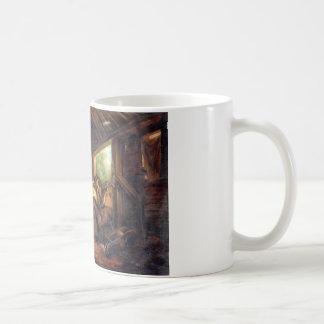 Innenraum eines Stalles durch George Morland Kaffeetasse