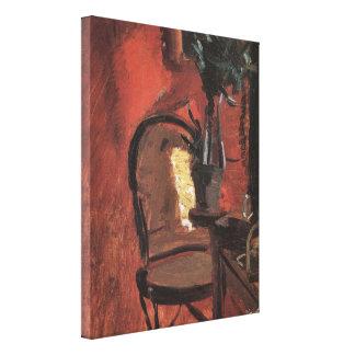 Innenraum mit Stuhl und Pflanze durch Anna Ancher Leinwanddruck