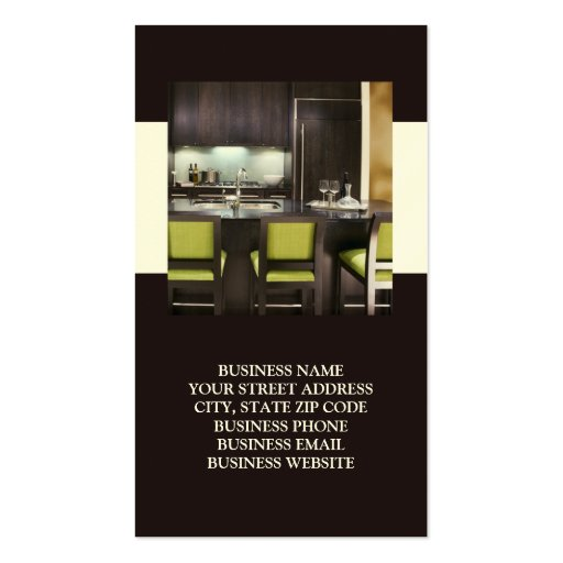 Innenraum oder Inszenierungs-Visitenkarten