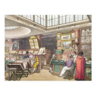 """Innenraum von Ackermanns """"Behälter von Künsten, Postkarte"""