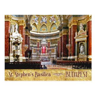 Innenraum von St Stephen Basilika in Budapest Postkarten