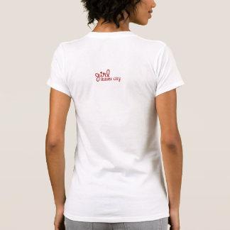 Innenstadt-Mädchen-Rot Grau u Weiß Shirt
