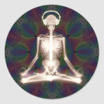 Inner Peace Round Stickers