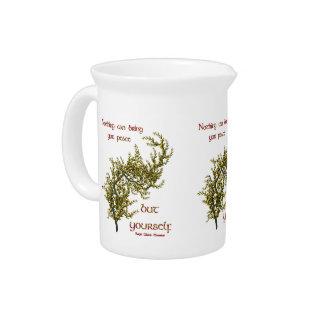 Innere Friedenszitat-Blumen Inspirational Krug