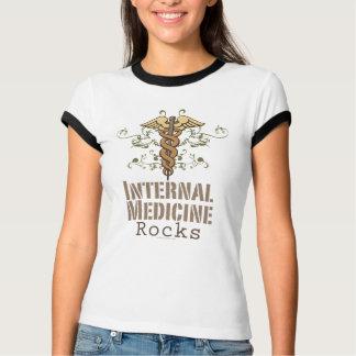 Innere Medizin schaukelt Caduceus-Wecker-T-Shirt T-Shirt