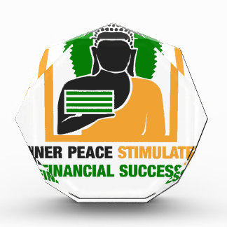 Innerer Frieden regt Finanzerfolg an Acryl Auszeichnung