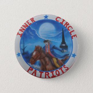 Innerer Kreis-Patriot-Knopf Runder Button 5,1 Cm