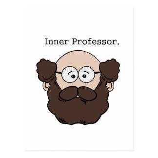 Innerer Professor Bearded Teacher Cartoon Postkarte