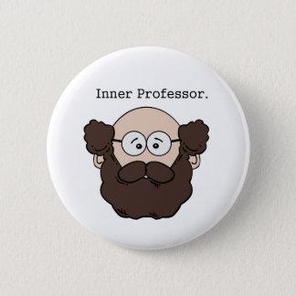 Innerer Professor Bearded Teacher Cartoon Runder Button 5,7 Cm