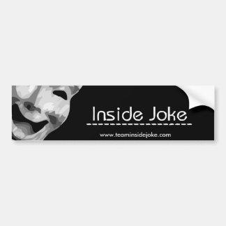 Innerer Witz-Autoaufkleber Autoaufkleber