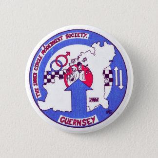 Inneres Crcle Abzeichen Guernsey Runder Button 5,7 Cm