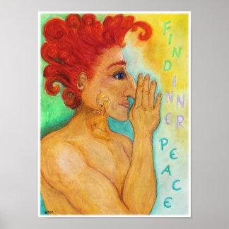 Inneres Friedensplakat - ÖlPastellzeichnen Poster