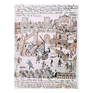 Innerhalb der alten lutherischen Kirche York Postkarte